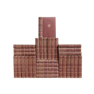 Rosewood & Gilt Harvard Classic Books - Set of 33