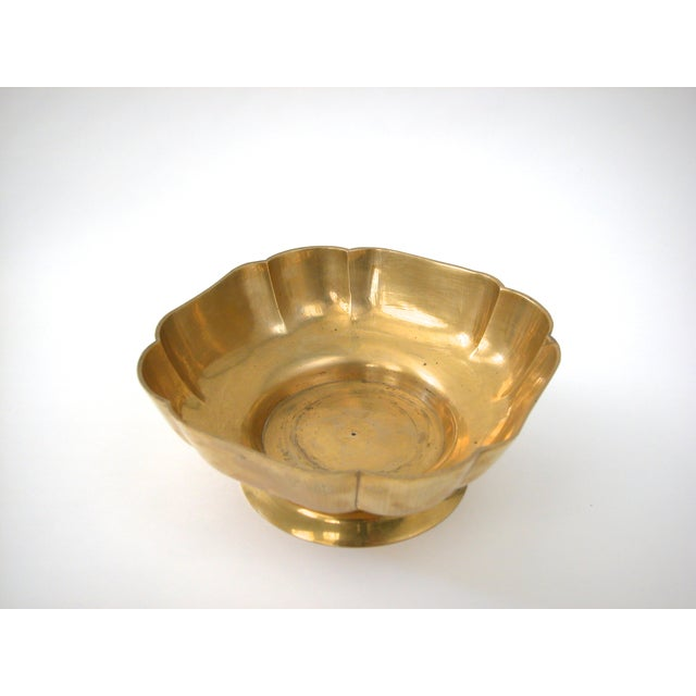 Brass Scallop Pedestal Bowl - Image 5 of 8