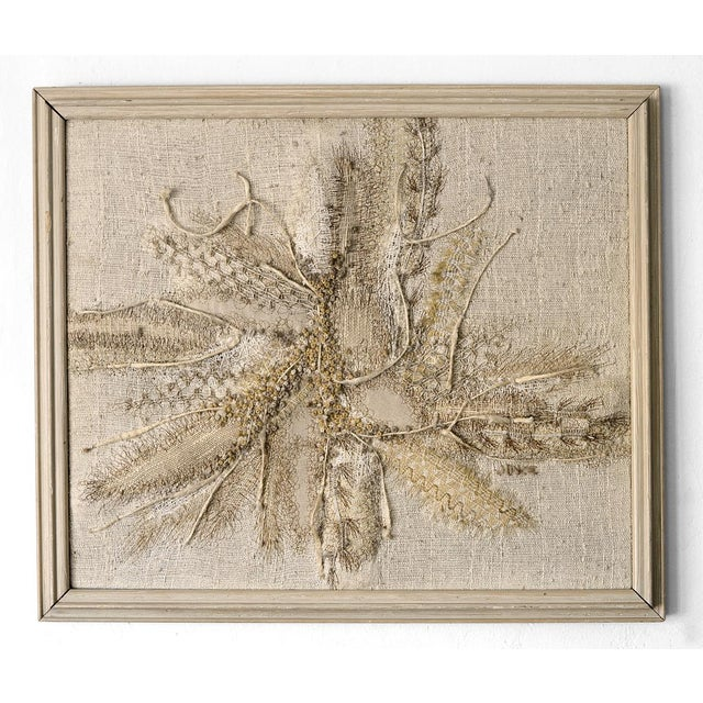 Modernist Abstract Fiber Art Wall Hanging - Image 3 of 8