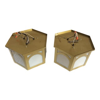 Vintage Architectural Ceiling Lights - A Pair
