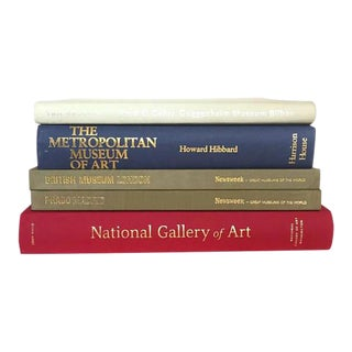 Coffee Table Books Hardback Art Museum Book Collection - Set of 5