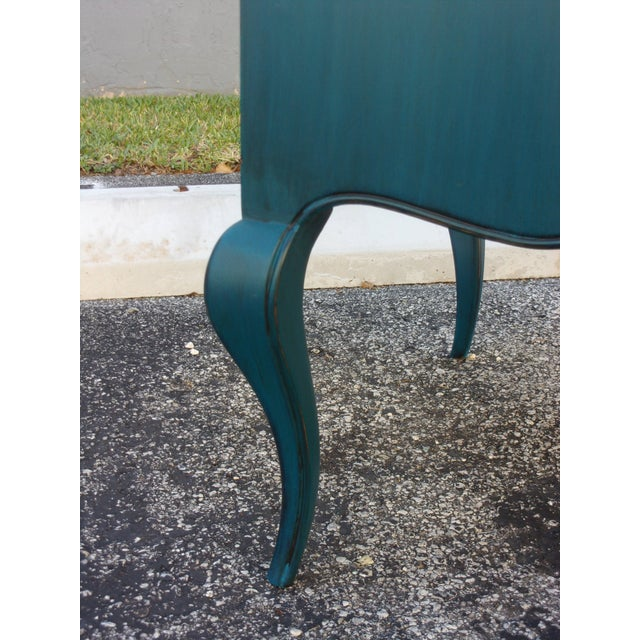 Mid-Century Blue Nightstands - Pair - Image 9 of 9