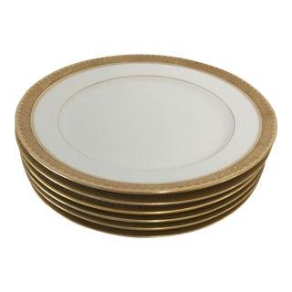 Elegant Gold Rim Salad Plates S/6