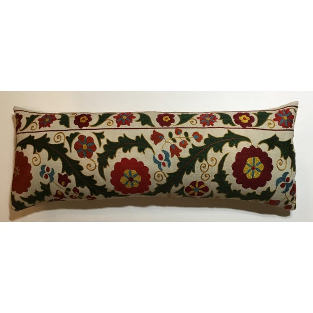 Hand Embroidery Vintage Suzani Pillow - Image 2 of 9