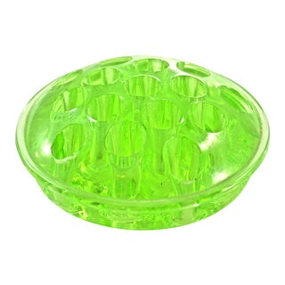 Green Depression Era Glass Accent