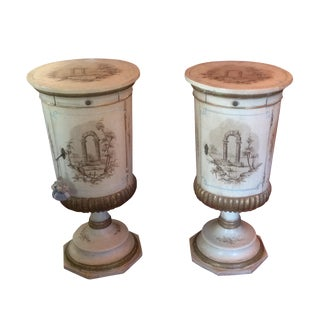 Hand Painted Italian Nightstands - A Pair