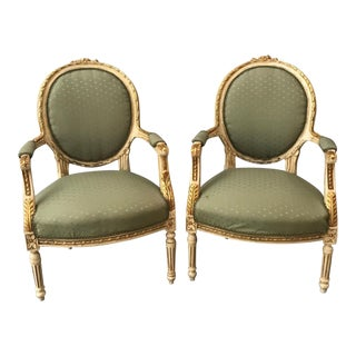 French Louis XV Style Chairs - A Pair