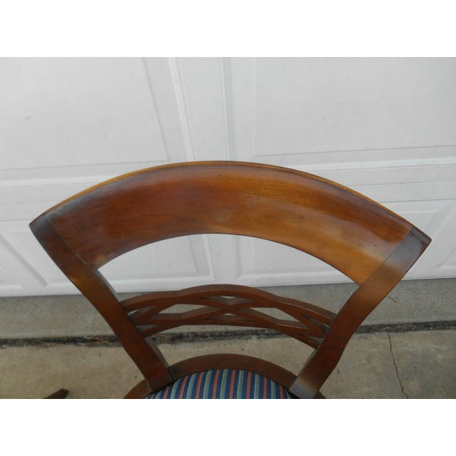 Vintage Baker Furniture Biedermeier Fruitwood Dining Chairs - A Pair - Image 6 of 7