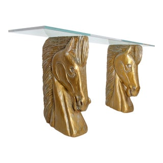 Carved Horse Head Console Table