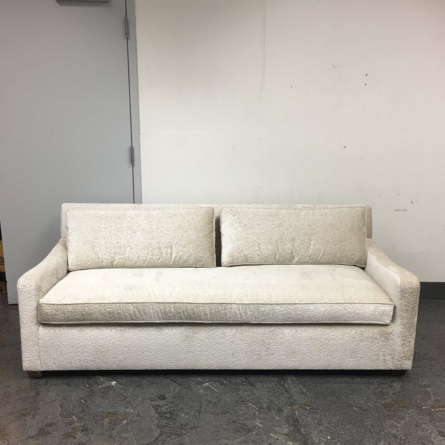 new fitzgerald of san francisco off white velvet sofa. Black Bedroom Furniture Sets. Home Design Ideas