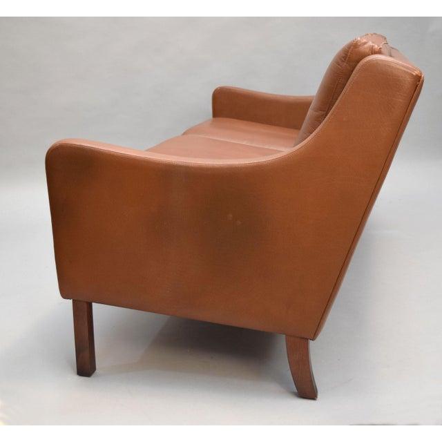 On Hold - Borge Mogensen Style Danish 3 Seater Leather Sofa - Image 10 of 10