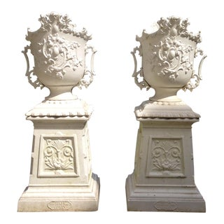 Pair of Rococo style urns