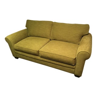 Pear Green Tweed Mid Century Modern Sleeper Sofa