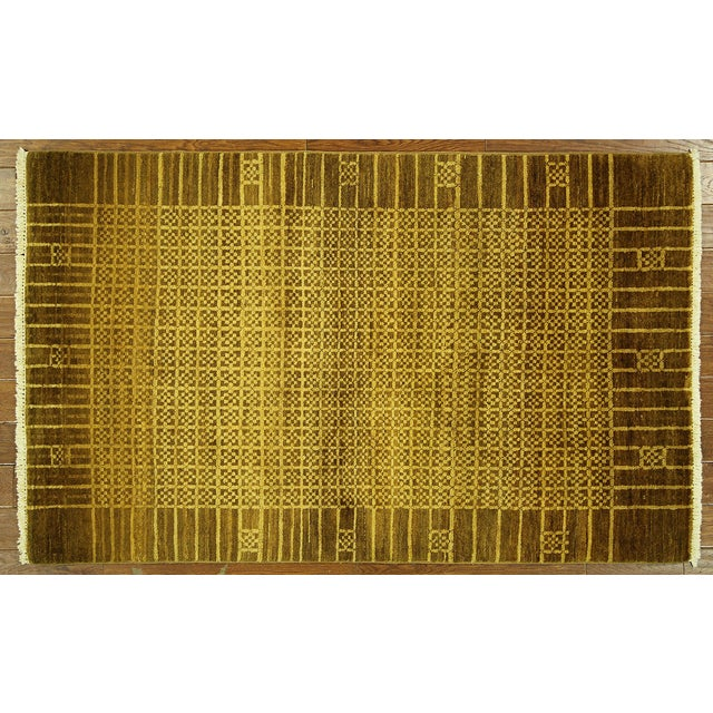 """Oriental Traditional Oushak Rug - 4'1"""" x 5'7"""" - Image 2 of 7"""