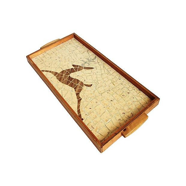 Image of Tiled Wood Serving Tray