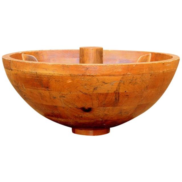 Decorative Craftsman Wood Bowl - Image 1 of 4