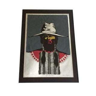 Vintage Native American Art Bruce Carter 1972 RARE Limited Print