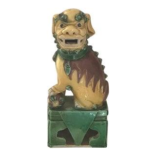 Antique Small Ceramic Foo Dog Statue