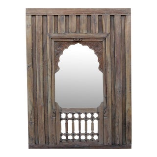 Early 19th Century Haveli Arched Mirror