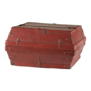 Red lacquer box with a removable top from China c. 1875