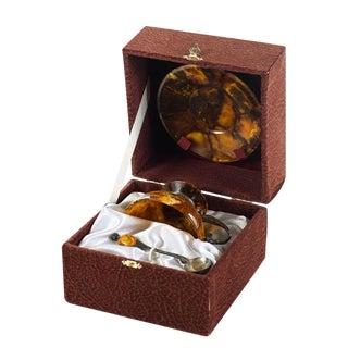 Silver & Amber Tea Cup Set