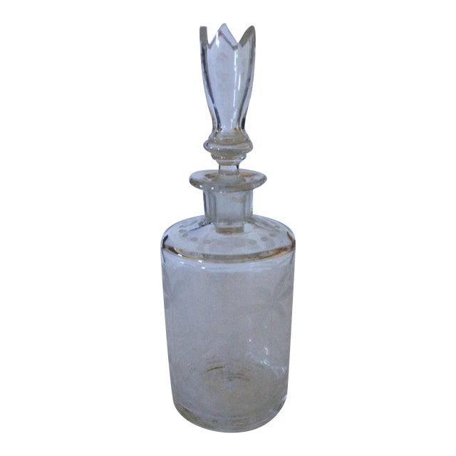 Etched Glass Decanter - Image 1 of 4