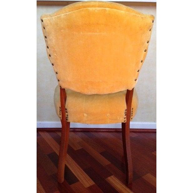 Image of Vintage Slipper Chair in Yellow Velvet