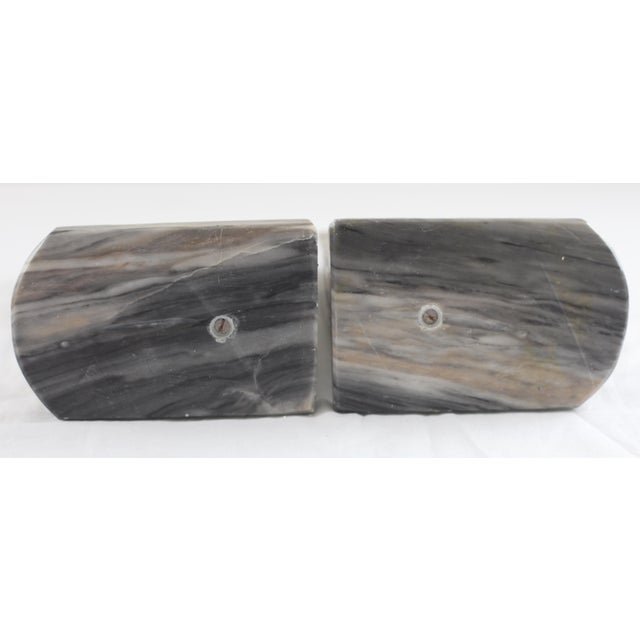 Mid-Century Onyx Horse Head Bookends - Pair - Image 5 of 7