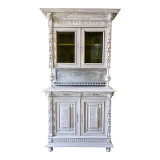 Renaissance Revival Painted Carved Sideboard