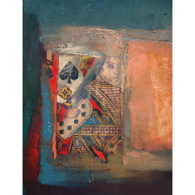Abstract Painting, Veritas & Queen of Spades - Image 2 of 3