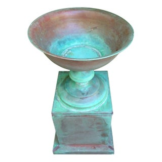 Baker Copper Urn with Base