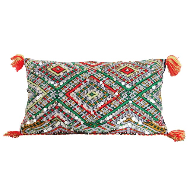 Handcrafted Moroccan Kilim Pillow II - Image 1 of 7