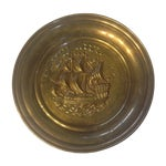 Image of Mid Century Brass Ship Wallhanging