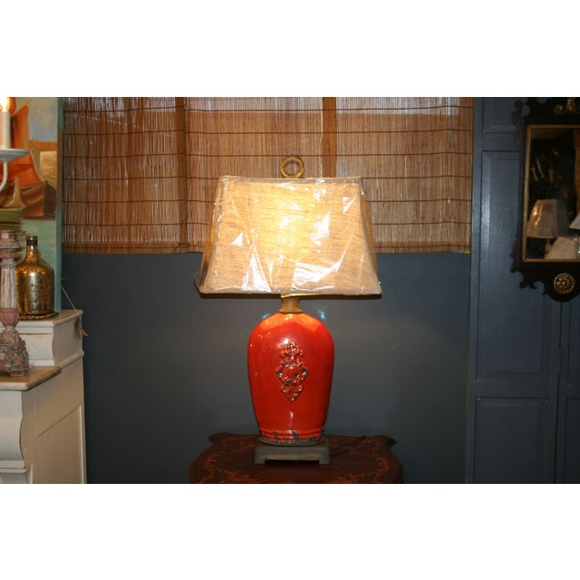 Large Tuscan Red Table Lamp - Image 6 of 10