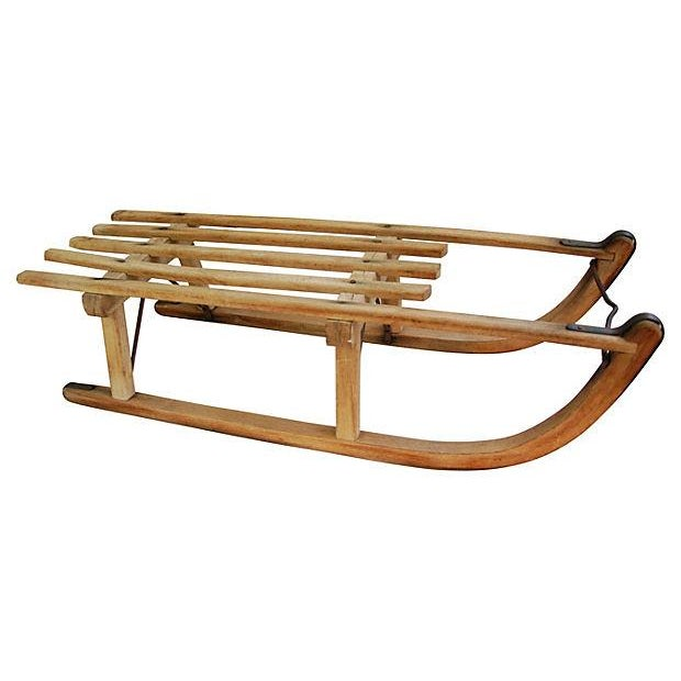 Antique Early 1900s Child's Snow Sled - Image 1 of 7