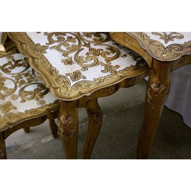 Image of Vintage Florentine Nesting Tables - Set of 3