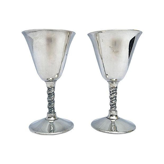 Image of Yugoslavian Silver Plate Goblets