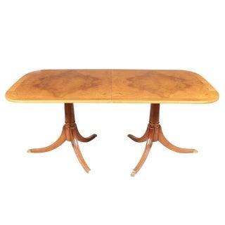 Duncan Phyfe Birdseye Maple Dining Table