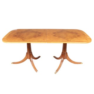 Duncan Phyfe Birdseye Maple Dining Table