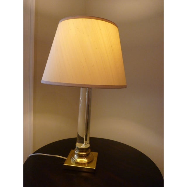 Restoration Hardware Glass Amp Brass Table Lamp
