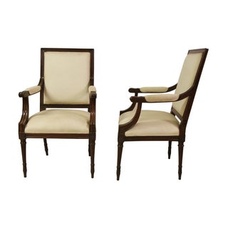 Louis XVI Style Arm Chairs - A Pair