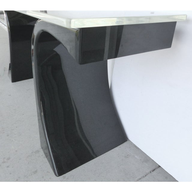 Curved Acrylic & Lucite Console - Image 3 of 6