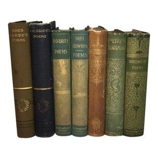 Antique Poetry Books - Set of 7