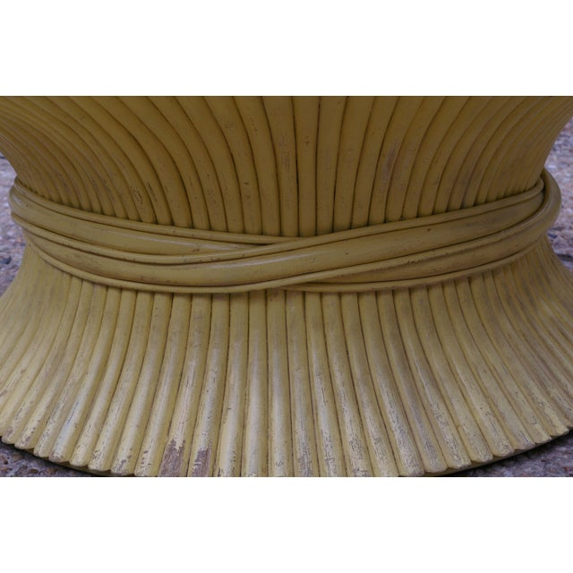 McGuire Wheat Sheaf Rattan Low Table - Image 4 of 4