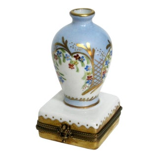 Hand Painted Limoges French Vase Trinket Box