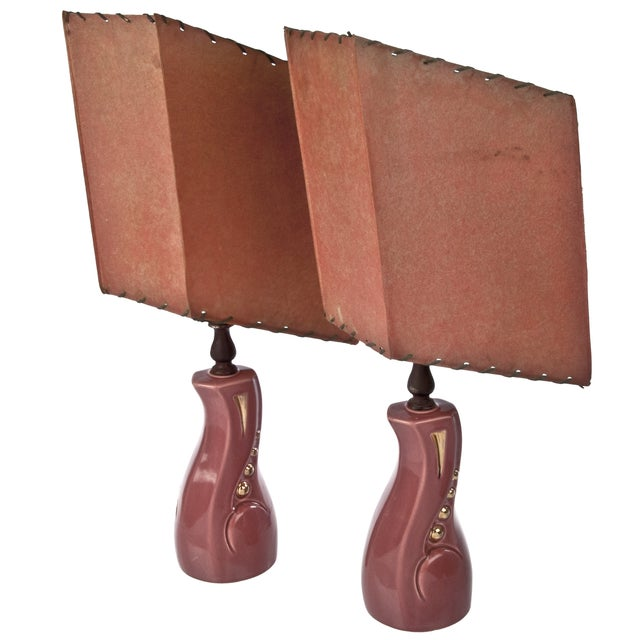Vintage Mid-Century Geometric Lamps - a Pair - Image 2 of 3