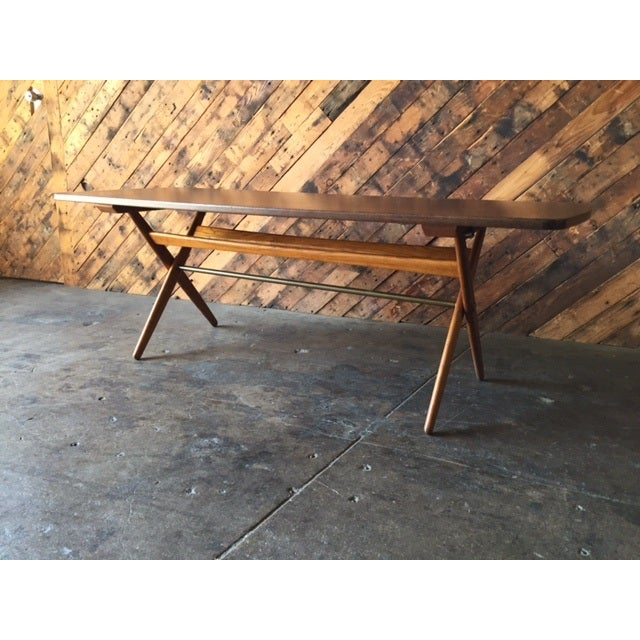 Mid-Century Danish Coffee Table by Ole Wanscher - Image 4 of 10
