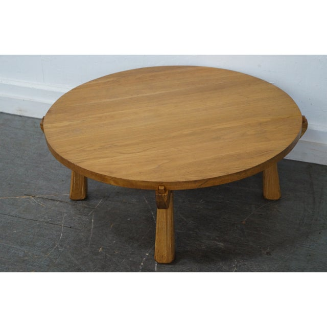 Brandt Ranch Oak Round Coffee Table Chairish