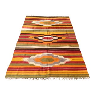 Vintage Turkish Kilim Rug - 5′2″ × 7′6″