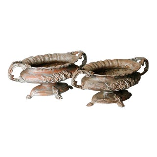 Pair of French Spelter Jardinieres